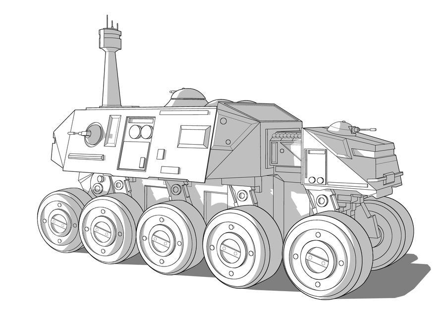 Star Wars Vehicle - Juggernaut by Obhan