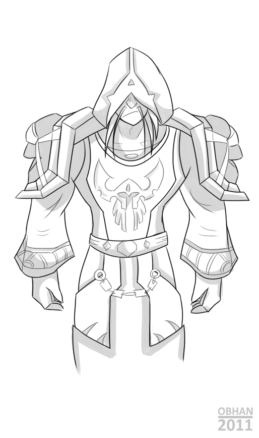 Warcraft 3 Anime Characters : Warcraft character lineart by obhan on deviantart