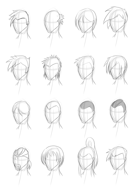how to draw spiky hair anime