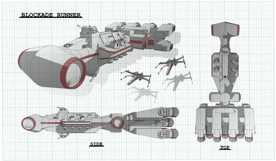 Blockade Runner Schematic by Obhan