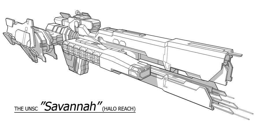 Unsc Ship Savannah By Obhan On Deviantart