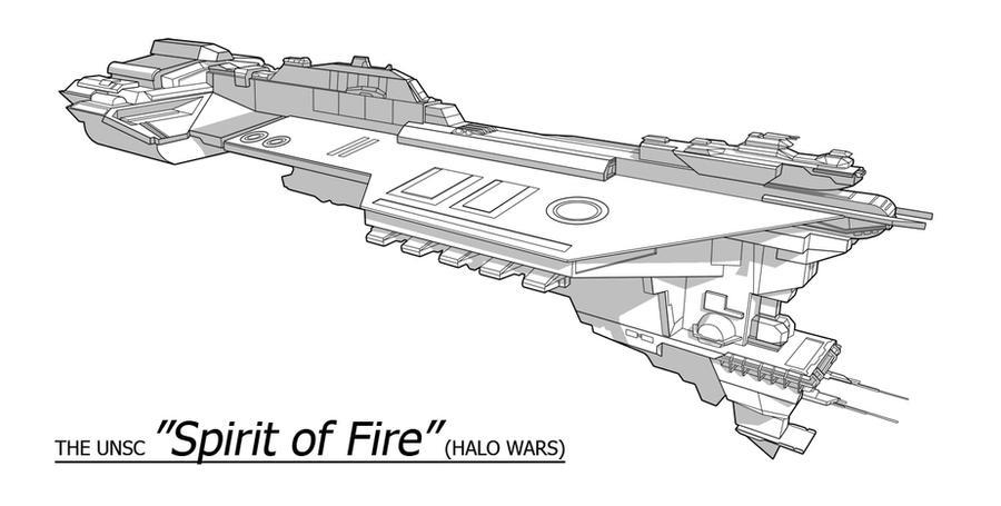UNSC Ship - Spirit of Fire by Obhan on DeviantArt