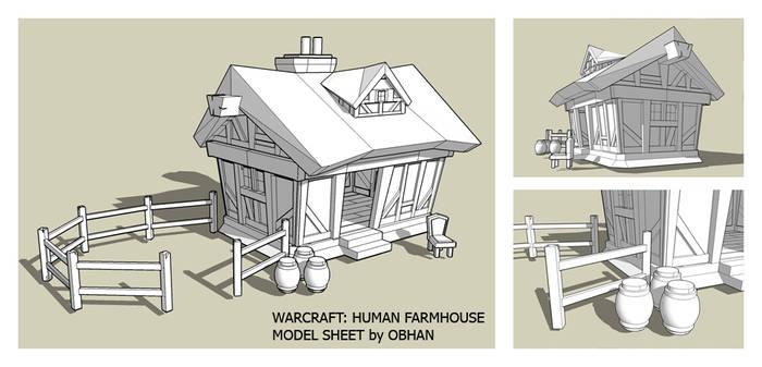 Human Farmhouse Model Sheet