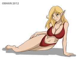 Blood Elf Pinup by Obhan
