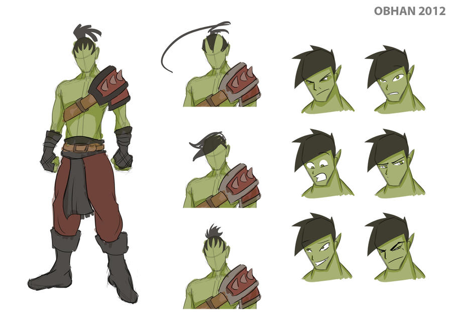 Orc Character Sheet by Obhan