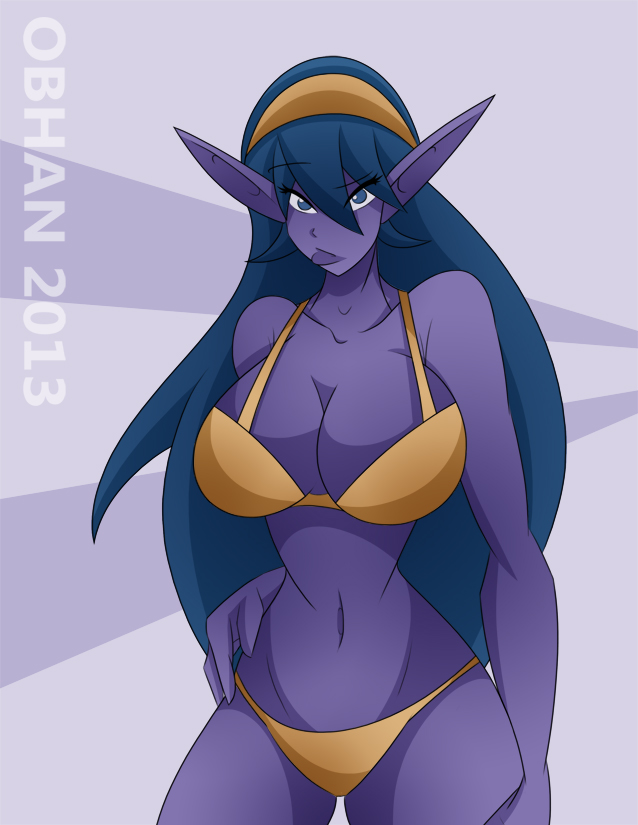 Night Elf Pinup By Obhan