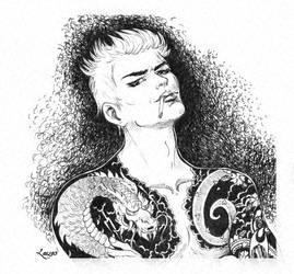 Yakuza (fragment) by NiebieskiKot