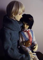 Victor i Kotik by NiebieskiKot