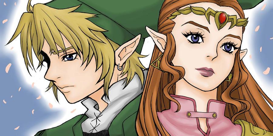 Link and Zelda by magicat787