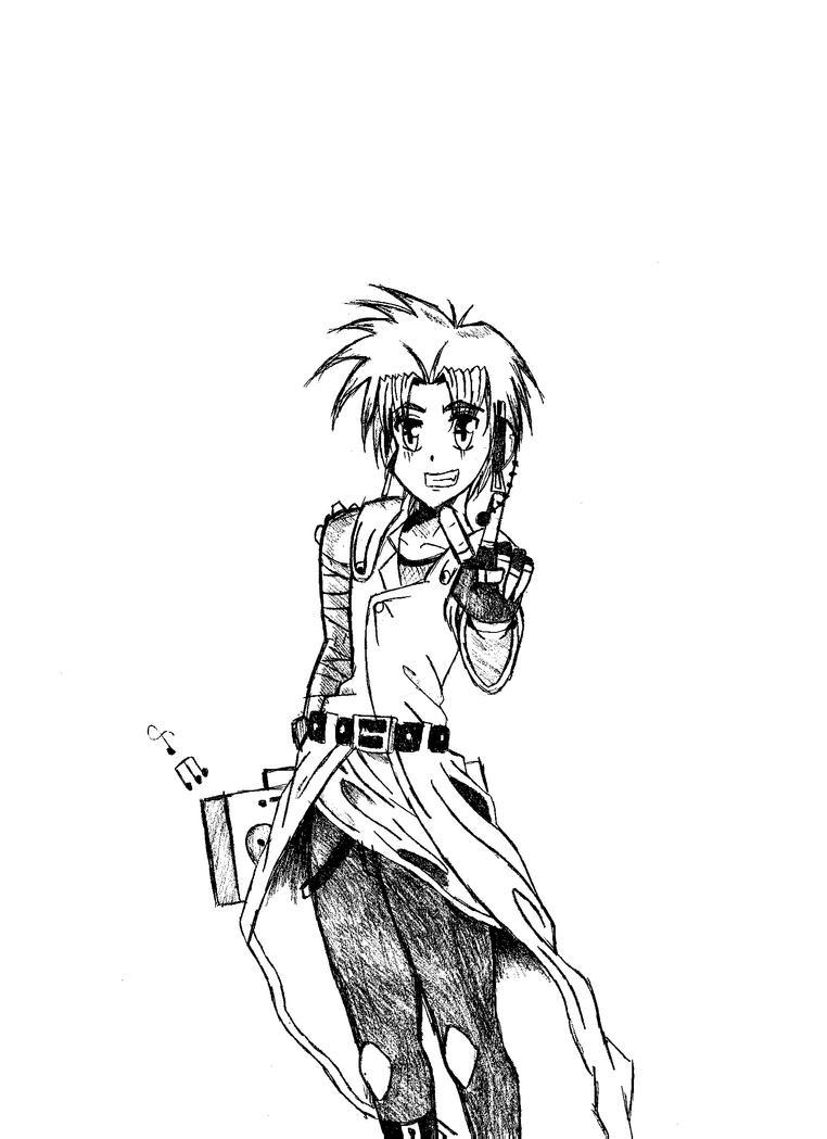Anime Music Boy Sketch By SharpenArrow