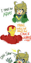 The Avengers : We have A Chuck Norris !