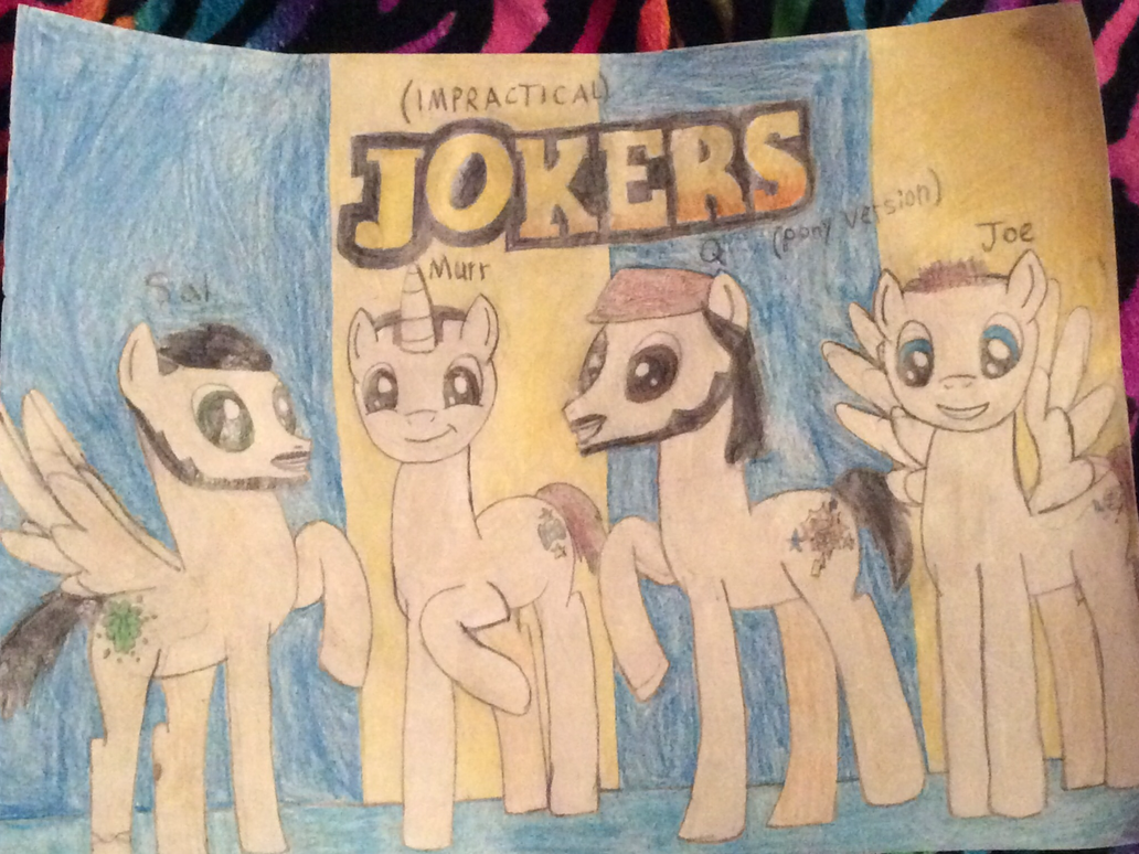 Impractical Jokers as ponies by April-13