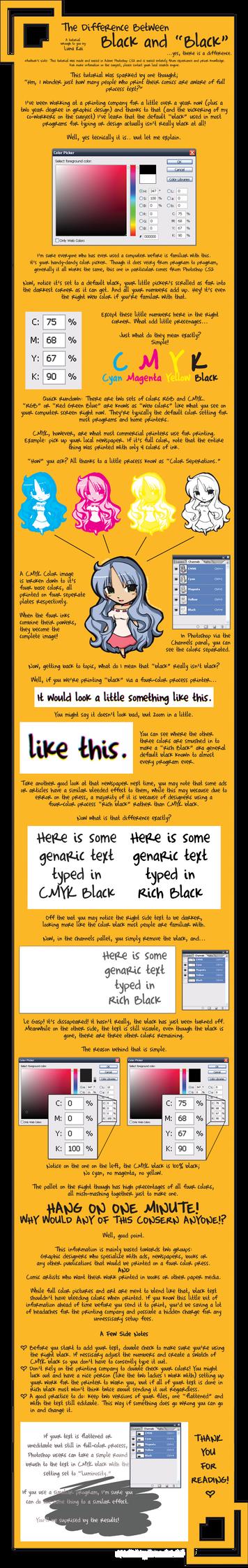 Tutorial about CMYK Black Text by luna--kai