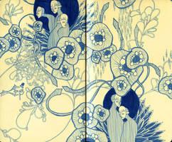 Moleskine Drawing 3 by manfishinc