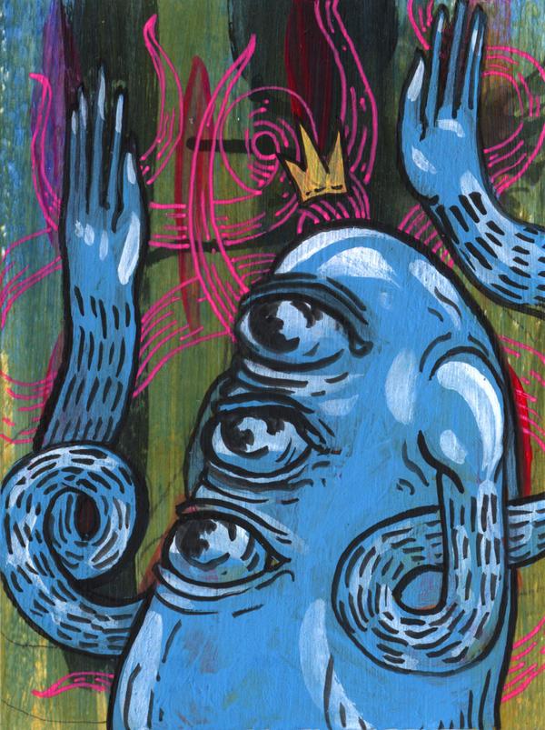 Mini Triclops Painting by manfishinc