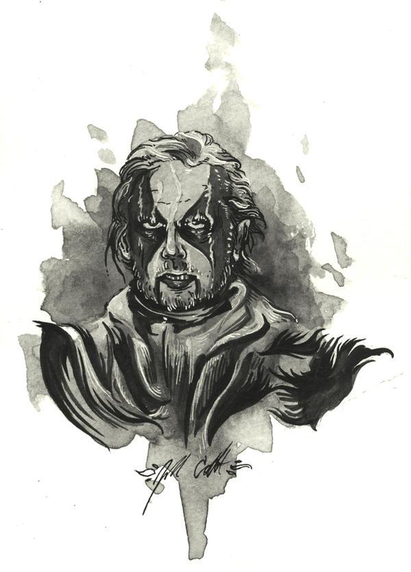 Black Metal Jack Nicholson by manfishinc