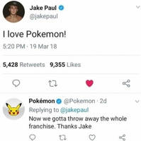 Jake Paul loves Pokemon by usopprules98