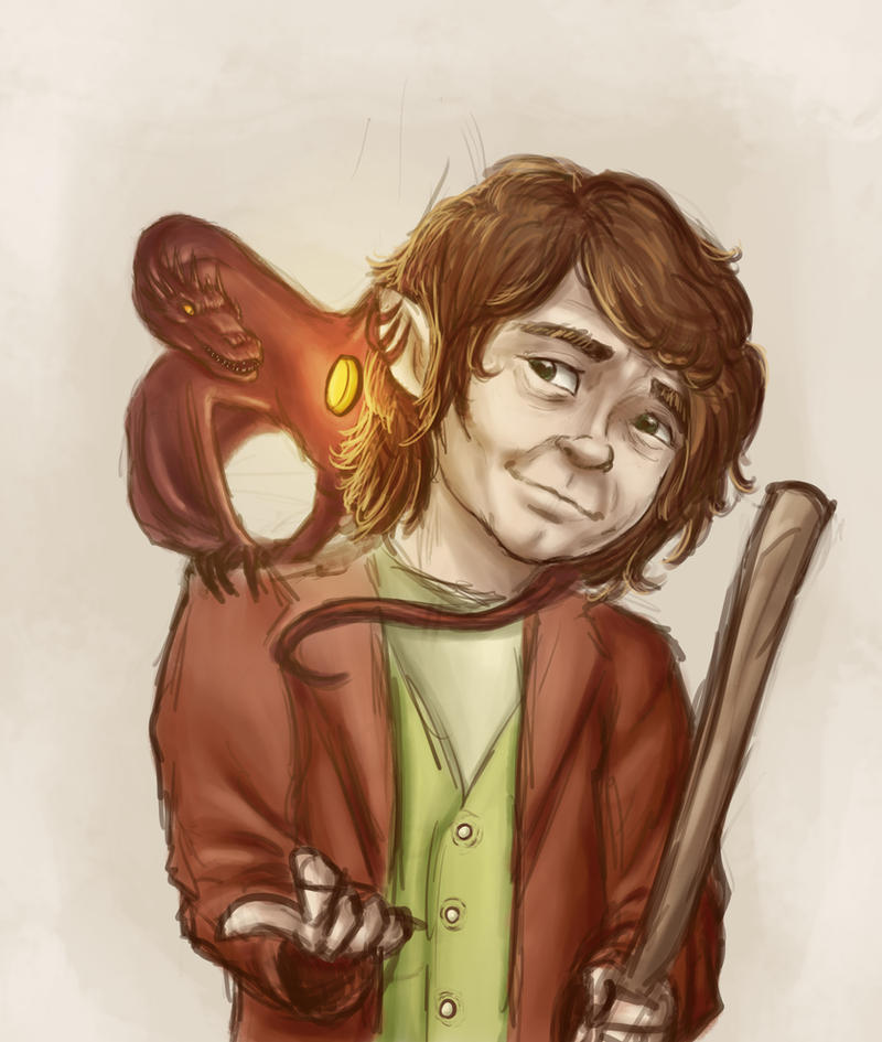 Bilbo and Smaug by MrMarvellouss