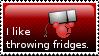 I like throwing fridges Stamp