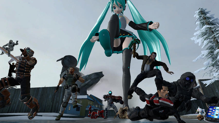 Attack Of The Giant Miku By Ryukky On Deviantart