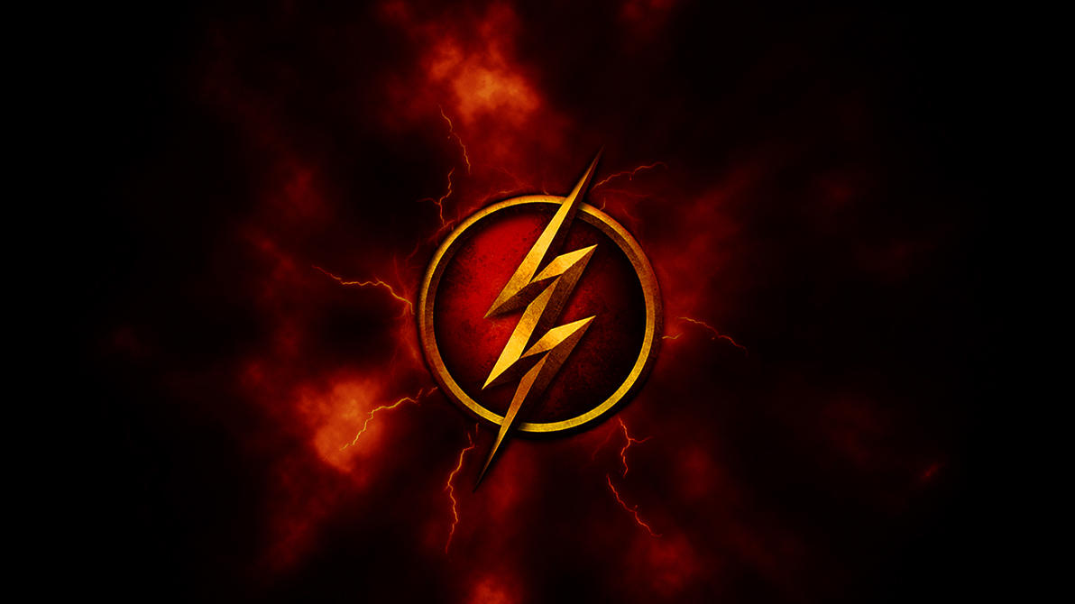 Red And Gold Flash Logo Wallpaper 1920x1080 By DeviantHitman83