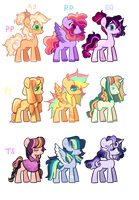 Mane 6 Babies closed by Pegalsus