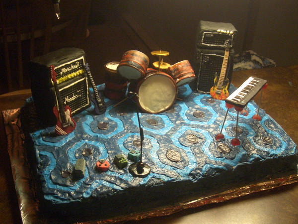 Musician Stage Cake