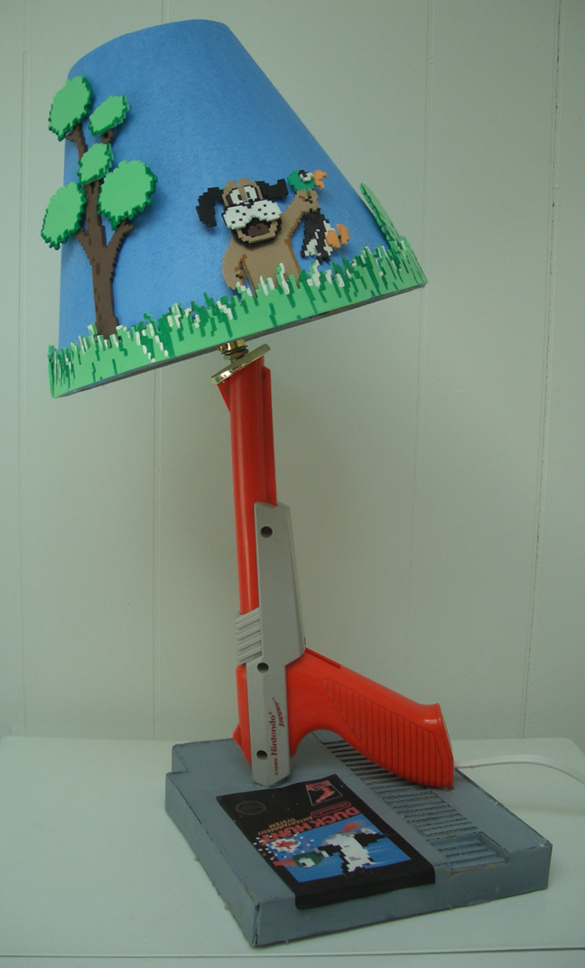 Duck Hunt lamp by estranged-illusions