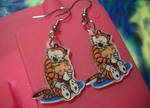 Calvin and Hobbes earrings