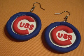 Cubs earrings by estranged-illusions