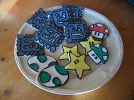 Mario cookies by estranged-illusions