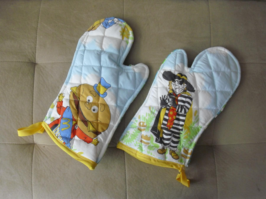 McDonald's Oven Mitts by estranged-illusions