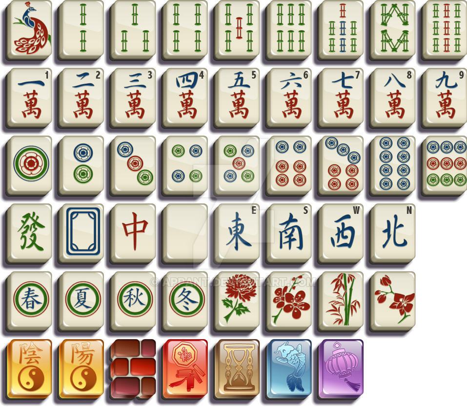 iwin mahjong tile set by appant