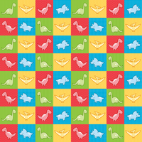 Dinosaurs cheater quilt fabric design by AnneKo