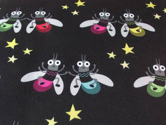 Fireflies partying Fabric design by AnneKo