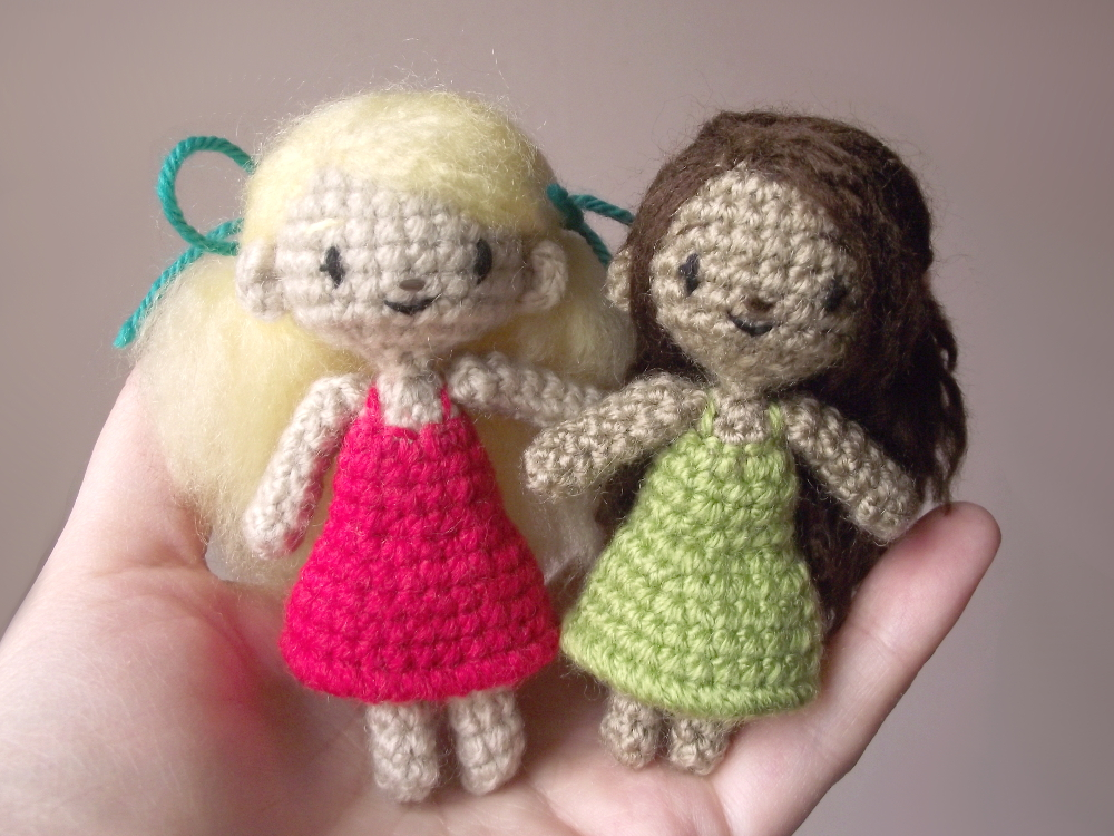 Small Amigurumi Doll Pattern : Sidonie the tiny amigurumi doll - Pattern by AnneKo on ...