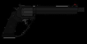 Futuristic revolver by PychoticMan244