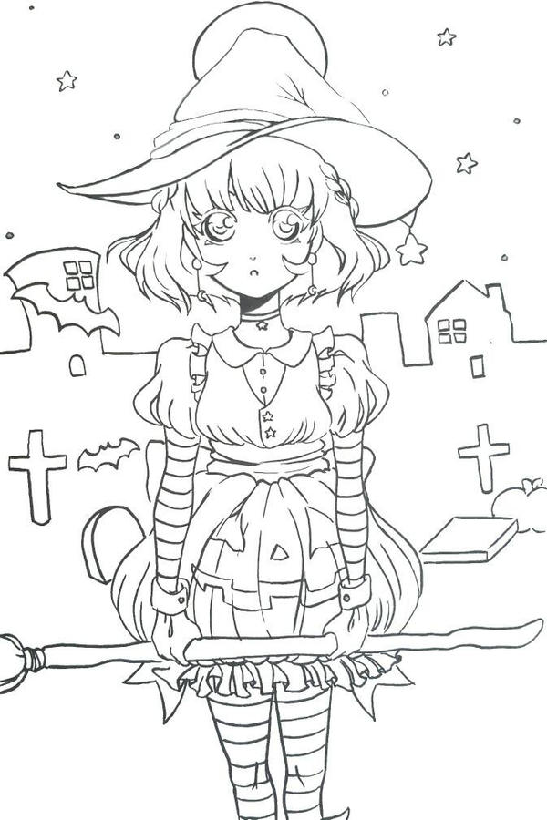 Line Art Halloween : Halloween anime line art by saineandshakarama on deviantart