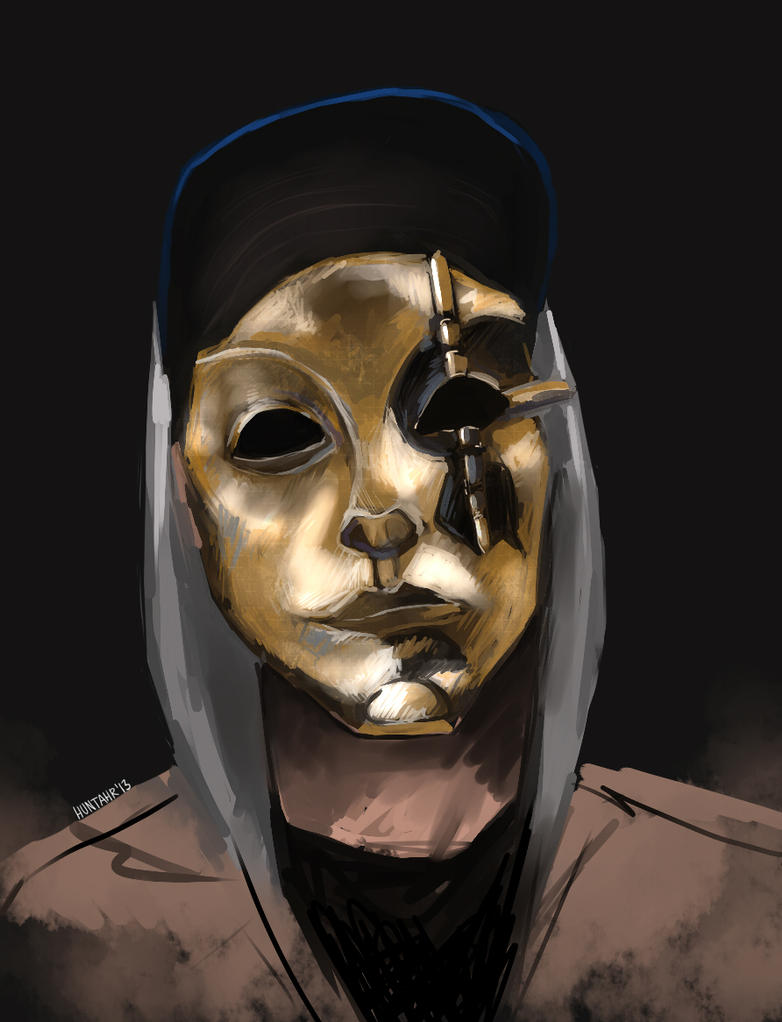 how to draw hollywood undead masks