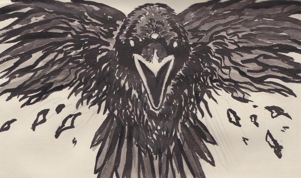 Three-eyed Raven - Game of Thrones by Loganthir on DeviantArt