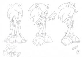 Sonic The Hedgehog Turn-around by FritzyMagpies