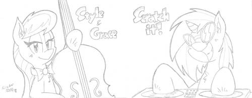 Tavi and Scratch by FritzyArtCorner