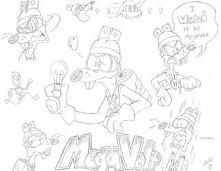 Megavolt Doodles by FritzyArtCorner