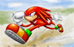 Knuckles the echidna running