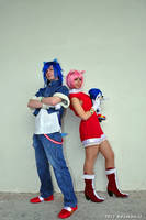 Sonic n Amy cosplay - READY by Rush88