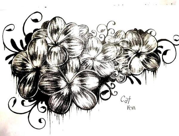Line Art Flower Design : Flower tattoo design by bloodyrose on deviantart