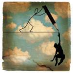 drawin' a silhouette penpal by bongobingo