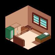 Bedroom-Isometric view