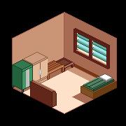 Bedroom-Isometric view by GhostWarg