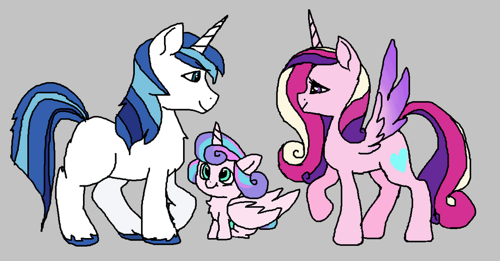 Shining Armor and Princess Cadence by PinkandCuteness
